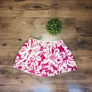 Pink/purple floral and white mini skirt 3 for $30